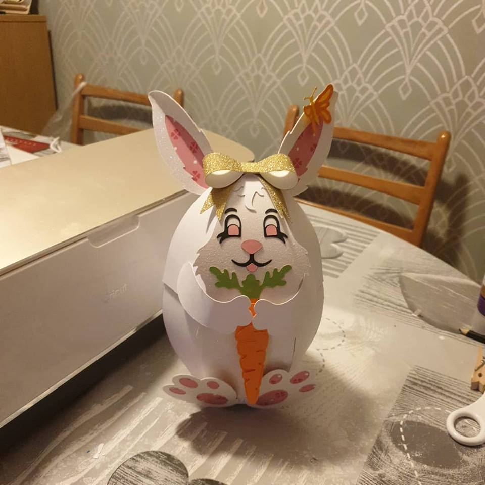 paper Easter bunny