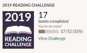 Goodreads 2019 reading challenge - 17 books read