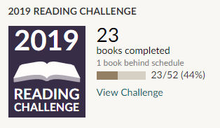 Goodreads 2019 reading challenge 23 books read