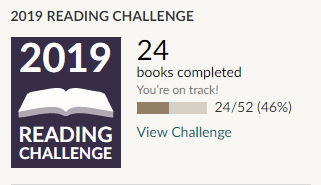 Goodreads 2019 reading challenge 24 books read