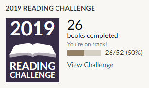 Goodreads 2019 reading challenge 26 books read
