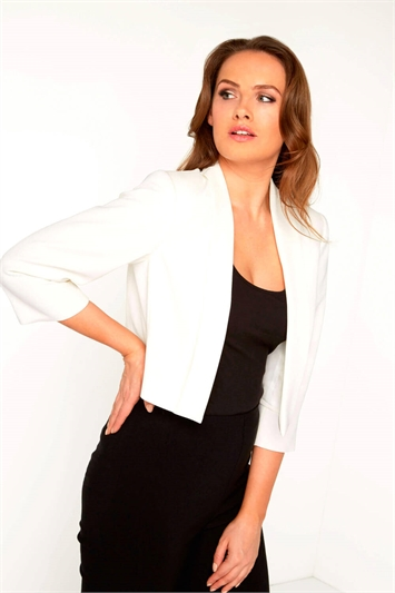 Black top with white jacket