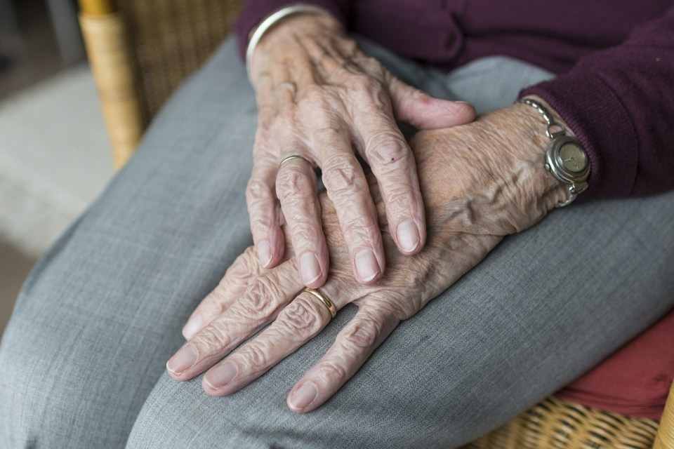Elderly person's hands - help elderly relatives stay at home