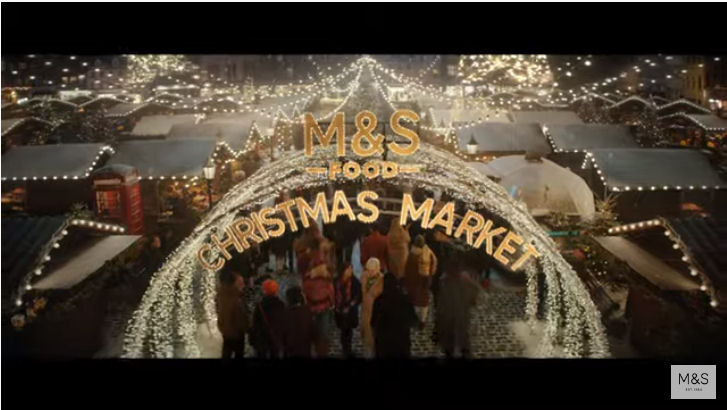 M&S Christmas advert 2019