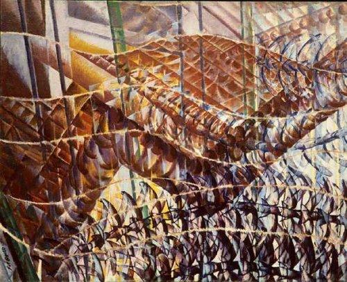 2Giacomo Balla, Snellen: banen van beweging en dynamische sequenties, 1913 (MoMA New York)