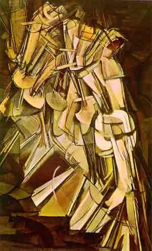 5Marcel Duchamp, Naakt de trap afdalend, 1912, Philadelphia Museum of Art