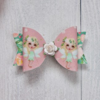 pink fairy hair bow