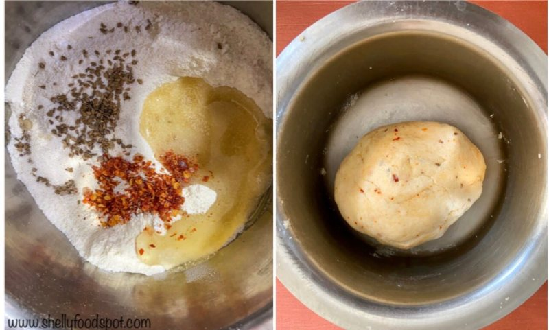 Namakpare dough ingredients