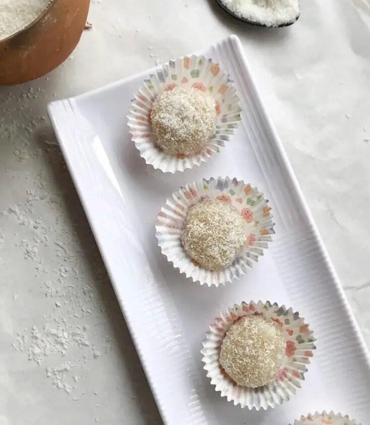 malai coconut ladoo|coconut ladoo recipe without condensed milk 2