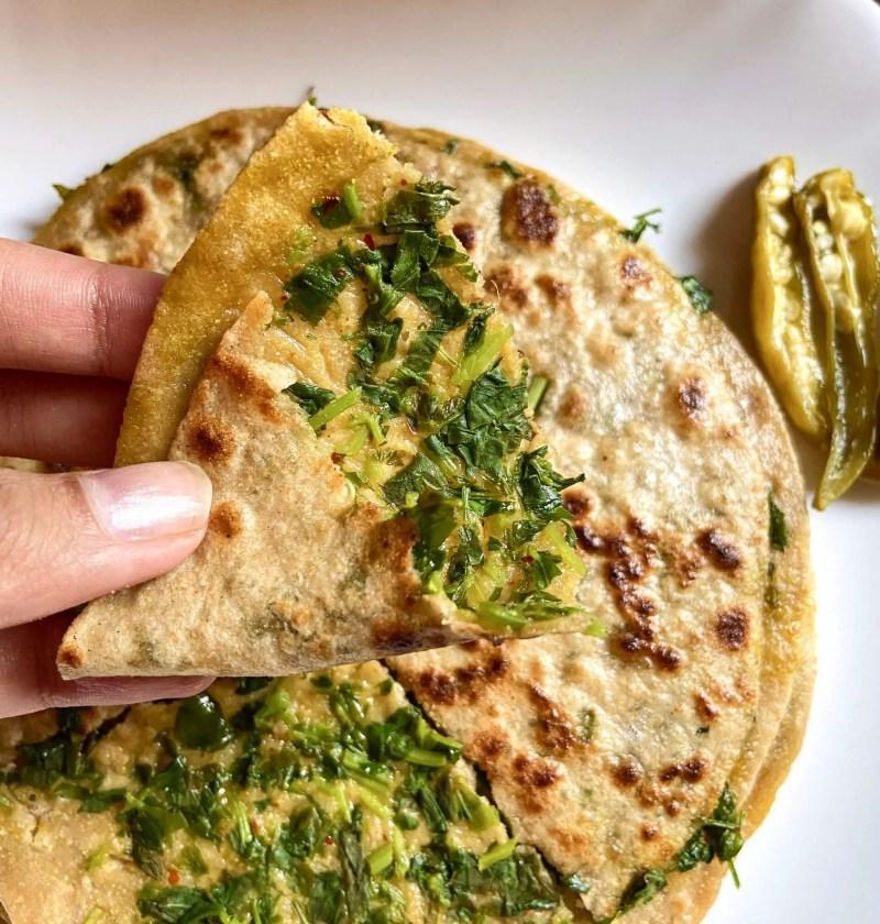 How to make methi paratha stuffed methi paratha 2