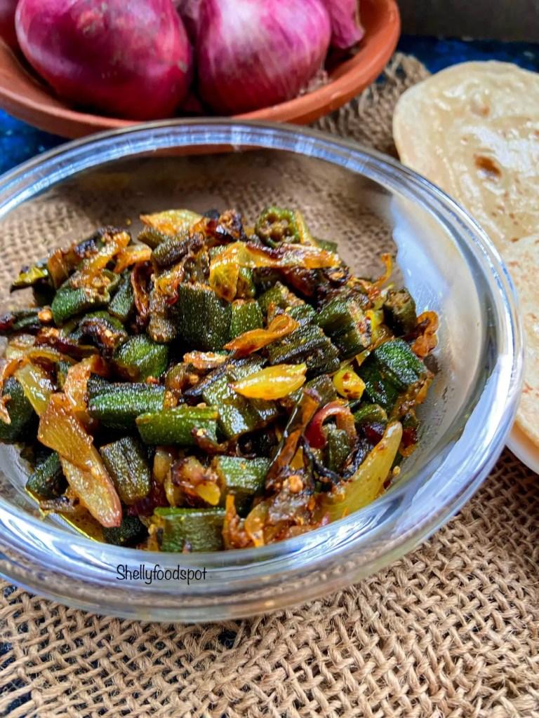 How to make bhindi do pyaza Bhindi fry with onion 2