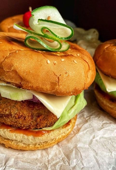 How to make aloo tikki burger|aloo tikki burger recipe