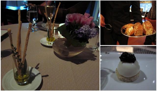 Bottom Right: Burrata and Caviar - a little bite of heaven