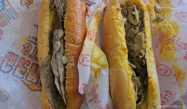 Cheez Whiz Cheesesteak with grilled onions