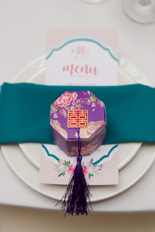 chinese wedding place setting