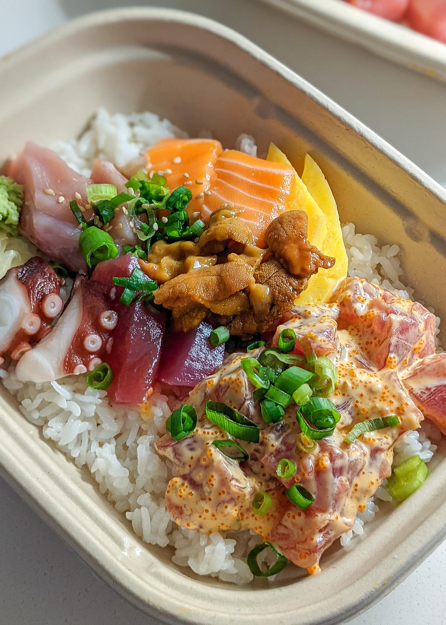 Chirashi Donburi w/ Spicy Poke Combo