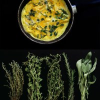 Omelet with fresh herbs