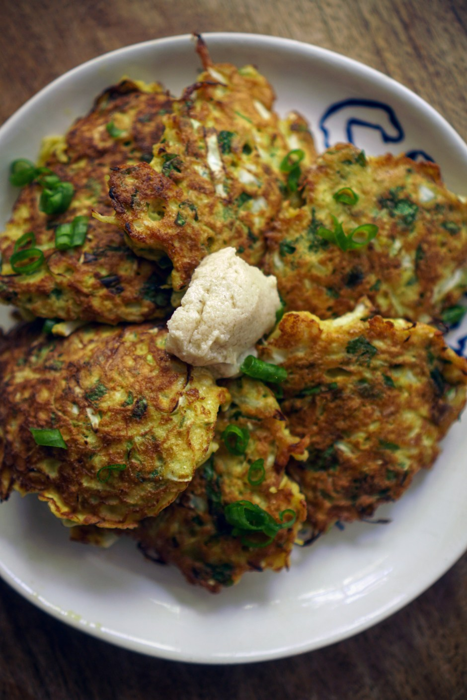 Cabbage, herbs and turmeric frittatas