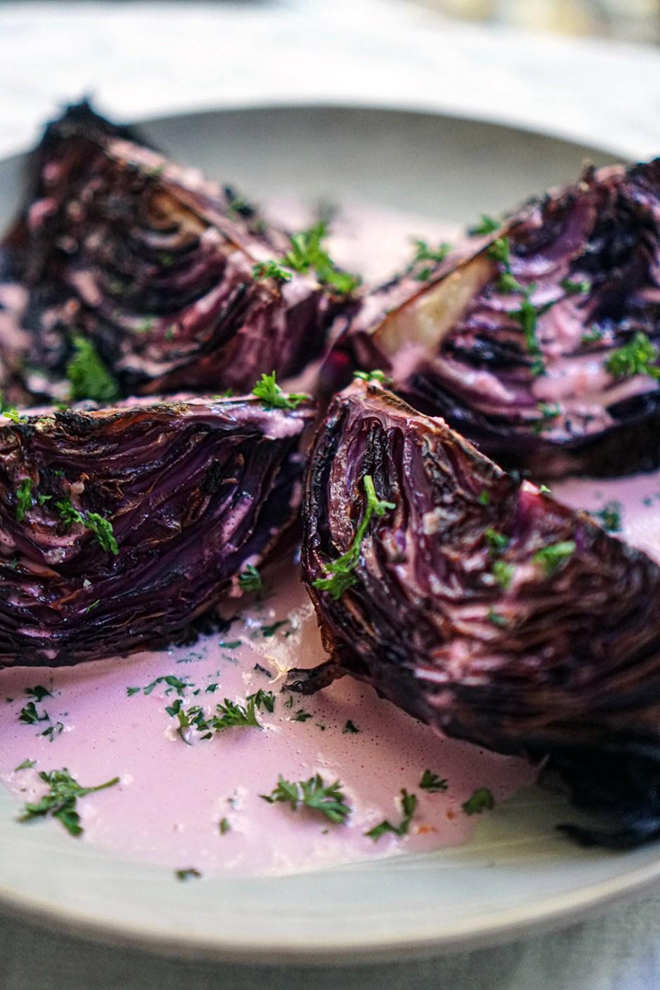 braised & roasted cabbage