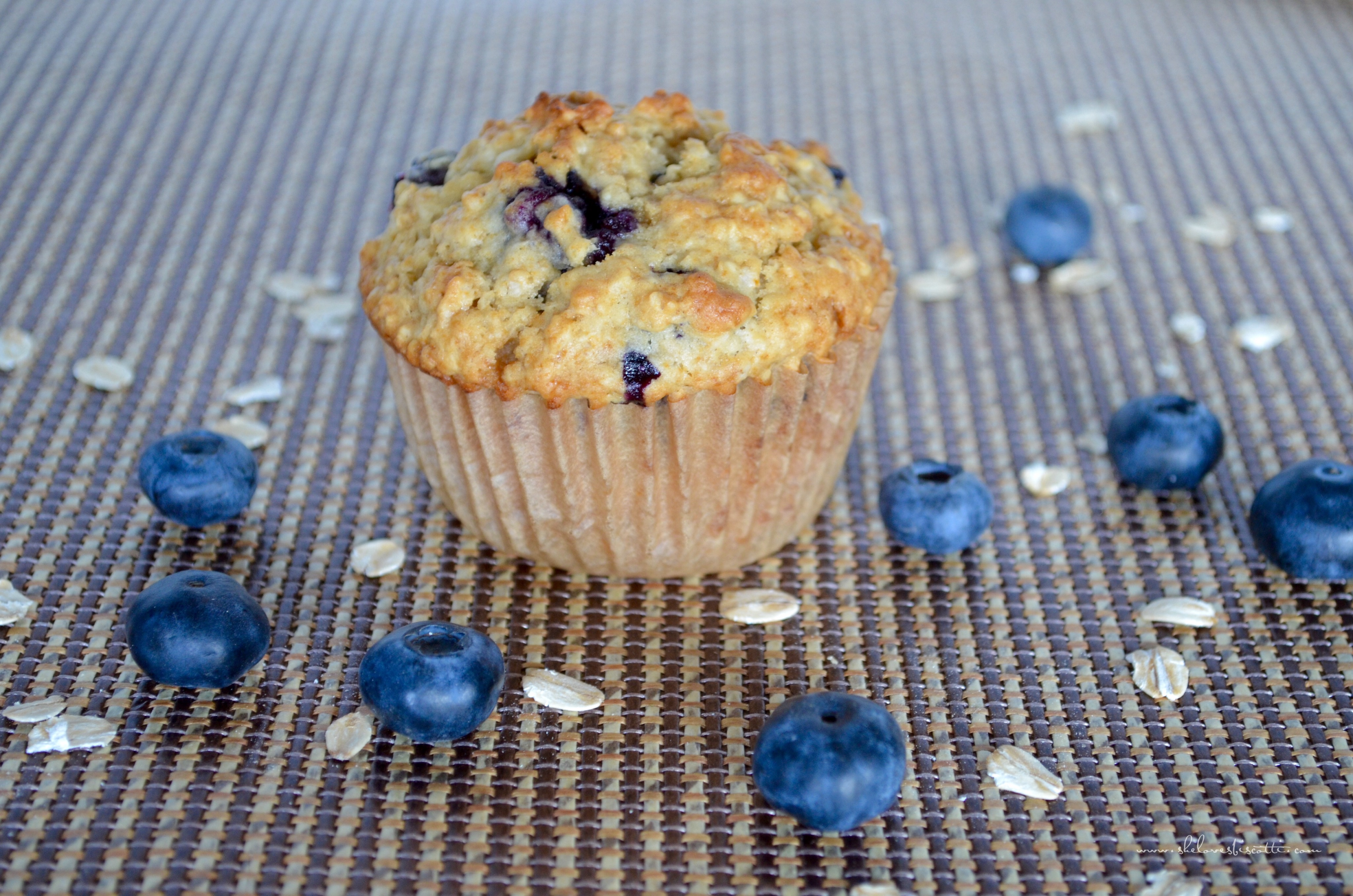 Healthy Blueberry Oat Muffins