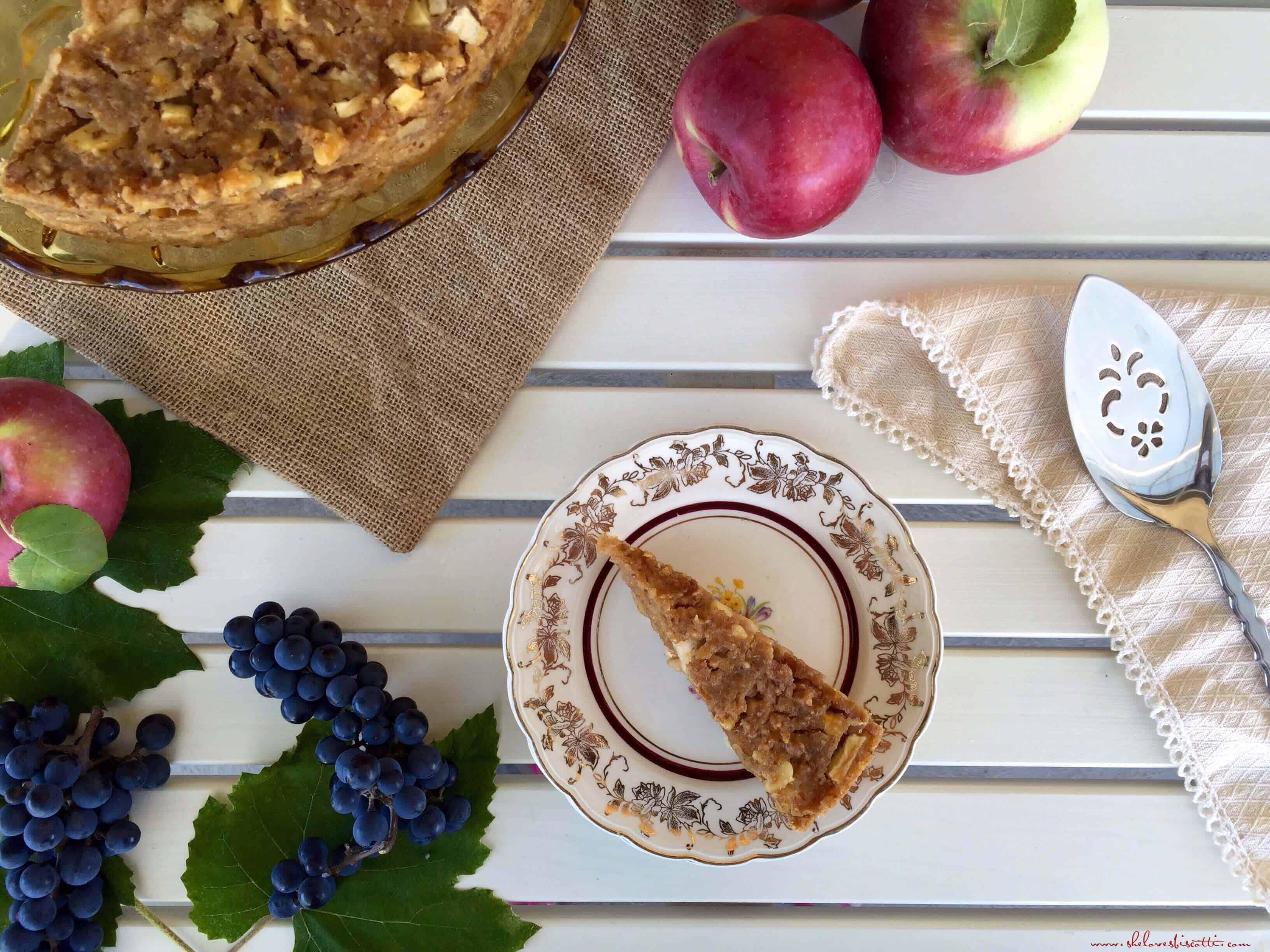 Lake Como's Apple Pear Bread Pudding