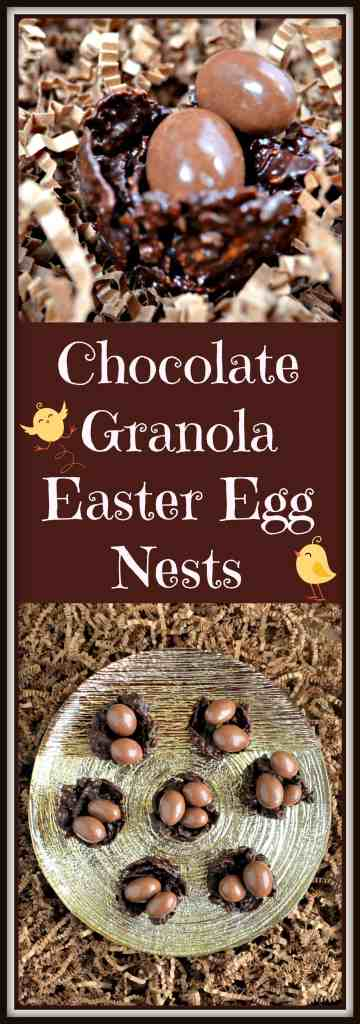 Chocolate Granola Easter Egg Nests