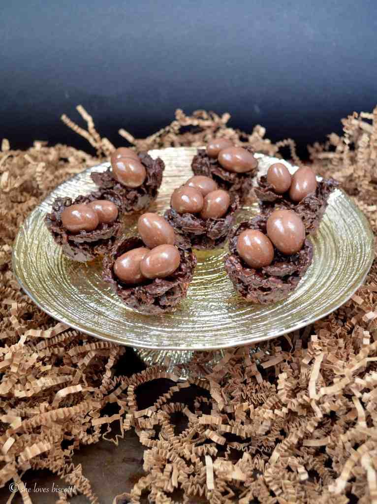 Chocolate Granola Easter Egg Nests