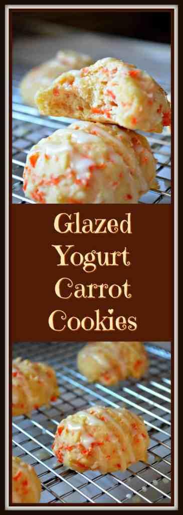 Glazed Yogurt Carrot Cookies