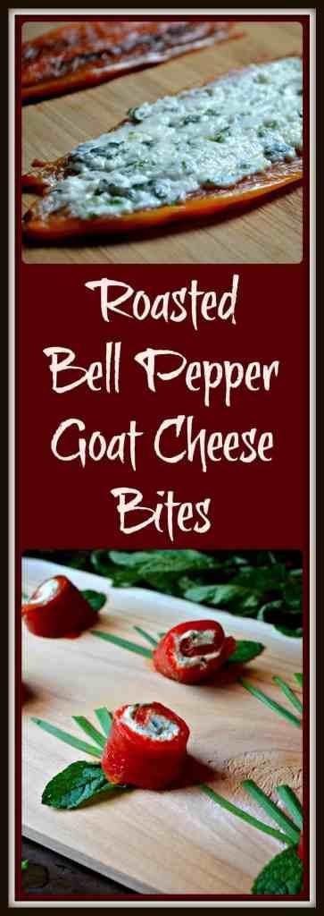 Roasted Bell Pepper Goat Cheese Bites