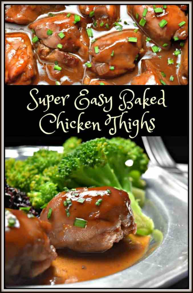 Super Easy Baked Chicken Thighs