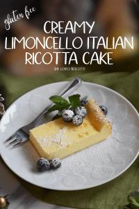 A piece of ricotta cake.