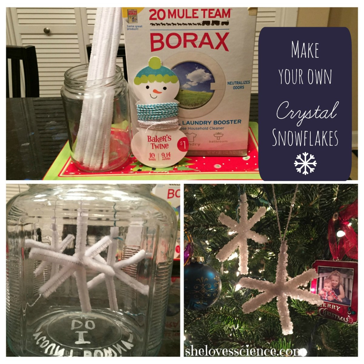 Crystal Snowflakes: Boredom buster!