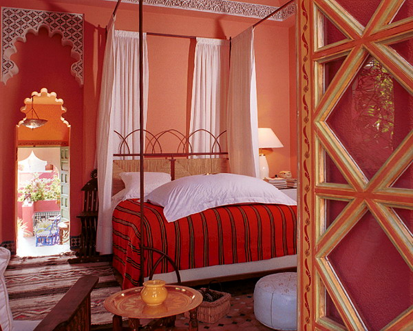 Moroccan Style Bedroom Decorating Ideas In Yellow And Pink Colors