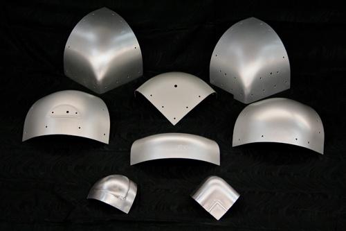 Various aluminum closeout corner caps.