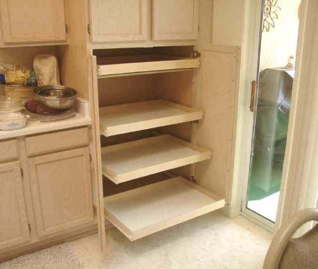 After Installing Pull Out Shelves For Pantry Storage