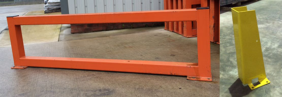 warehouse barriers and column guards
