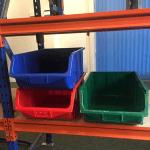 Used Ecobox plastic storage boxes