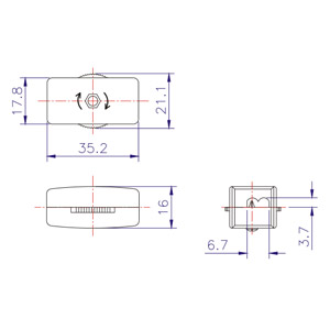 Zing Ear Feed Thru Cord Switch ZEKS302 | Shemoi Ent