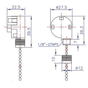 Zing Ear Pull Chain Switch ZE268S6   Shemoi Ent