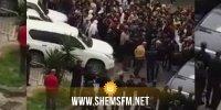 أعضاء التنسيقية الجهوية لنداء تونس في القصرين يحتجون ضد انصهار الحزب مع الوطني الحر