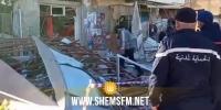 القيروان: انفجار قارورة غاز يتسبب فى سقوط جانب من الواجهة الامامية لبناية