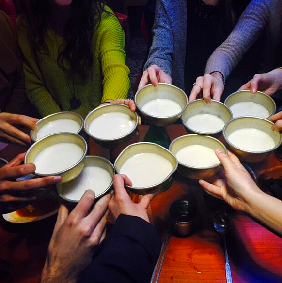 Cheers with Maekju, South Korea