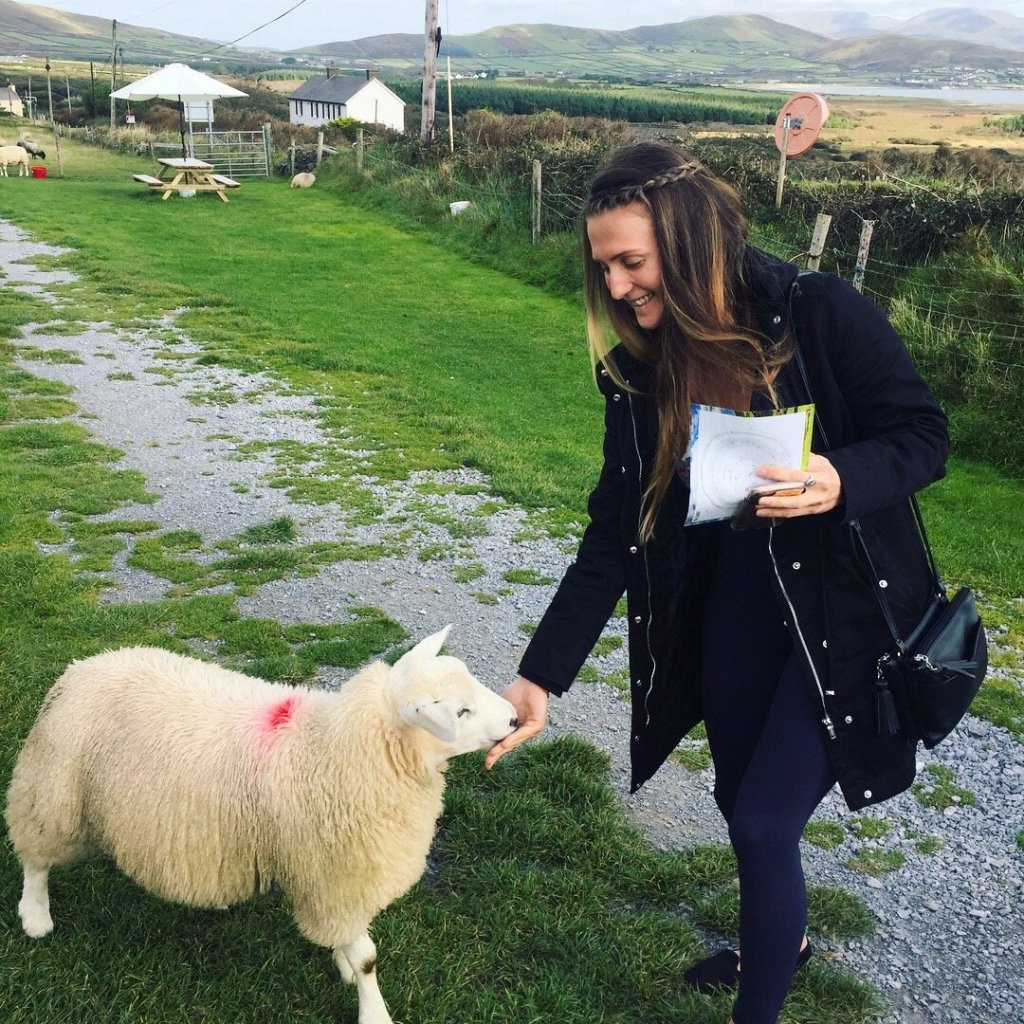 ireland-road-trip-stop-girl-feeding-sheep-dingle