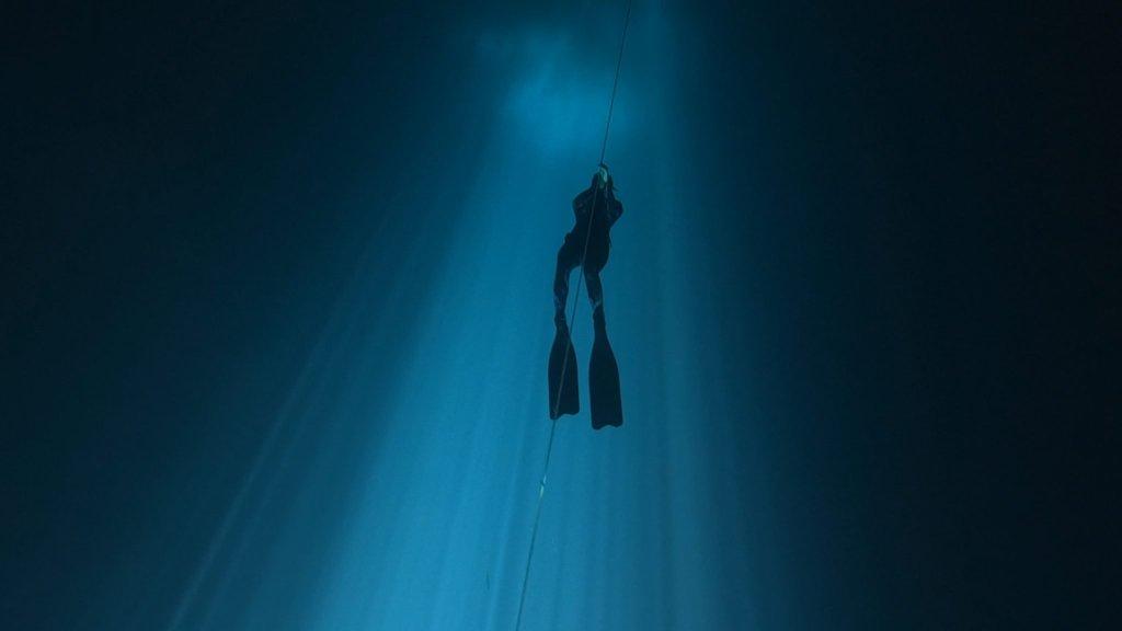 freediving underwater maravilla cenote outer space