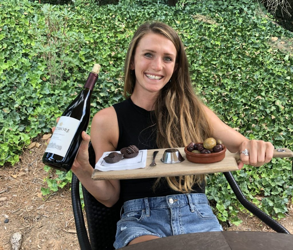 drinking wine at biltmore house asheville north carolina