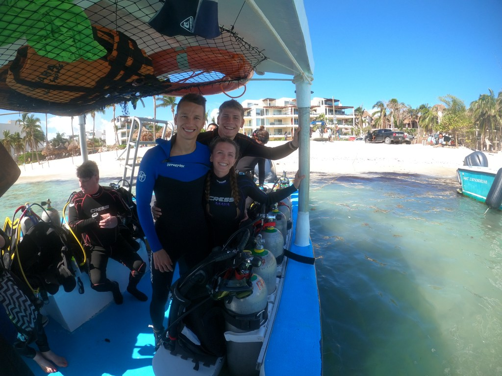 scuba diving charter with Good Vibes Diving in Playa del Carmen Mexico