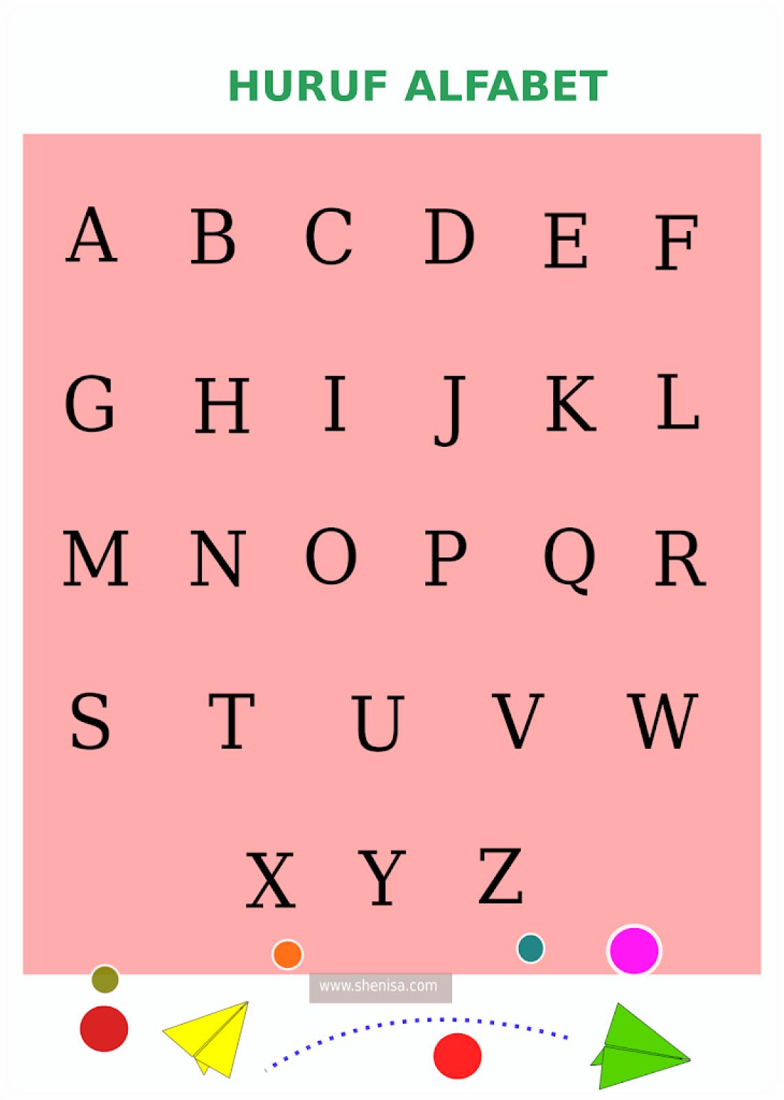 Materi Homeschooling Poster Edukasi Alfabel A Z She Nisa