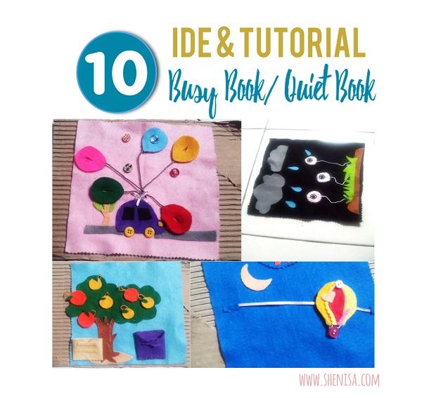 10 Ide dan Tutorial Membuat Buku Flanel Busy Book/ Quiet Book Tanpa Ribet