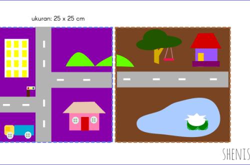 peta mini desa dan kota