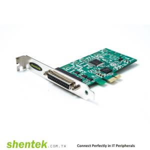 1 port Parallel Universal PCIe card Standard and Low Profile Bracket
